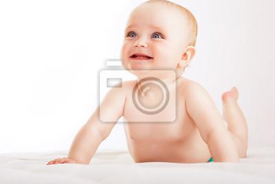 Постер - инфицированного ребенка на белой тканиДети<br>Постер на холсте или бумаге. Любого нужного вам размера. В раме или без. Подвес в комплекте. Трехслойная надежная упаковка. Доставим в любую точку России. Вам осталось только повесить картину на стену!<br>
