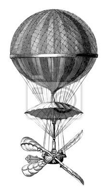 Постер-картина Фото-постеры Аэростат - 18 века (1784 - Париж), 20x36 см, на бумагеВоздушные шары<br>Постер на холсте или бумаге. Любого нужного вам размера. В раме или без. Подвес в комплекте. Трехслойная надежная упаковка. Доставим в любую точку России. Вам осталось только повесить картину на стену!<br>