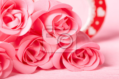 Розовые розы, 30x20 см, на бумаге02.14 День Святого Валентина (День всех влюбленных)<br>Постер на холсте или бумаге. Любого нужного вам размера. В раме или без. Подвес в комплекте. Трехслойная надежная упаковка. Доставим в любую точку России. Вам осталось только повесить картину на стену!<br>