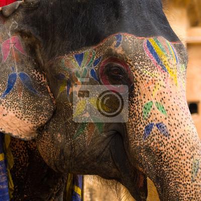 Постер Слоны Нарисовал слона в Джайпур, Раджастан, ИндияСлоны<br>Постер на холсте или бумаге. Любого нужного вам размера. В раме или без. Подвес в комплекте. Трехслойная надежная упаковка. Доставим в любую точку России. Вам осталось только повесить картину на стену!<br>