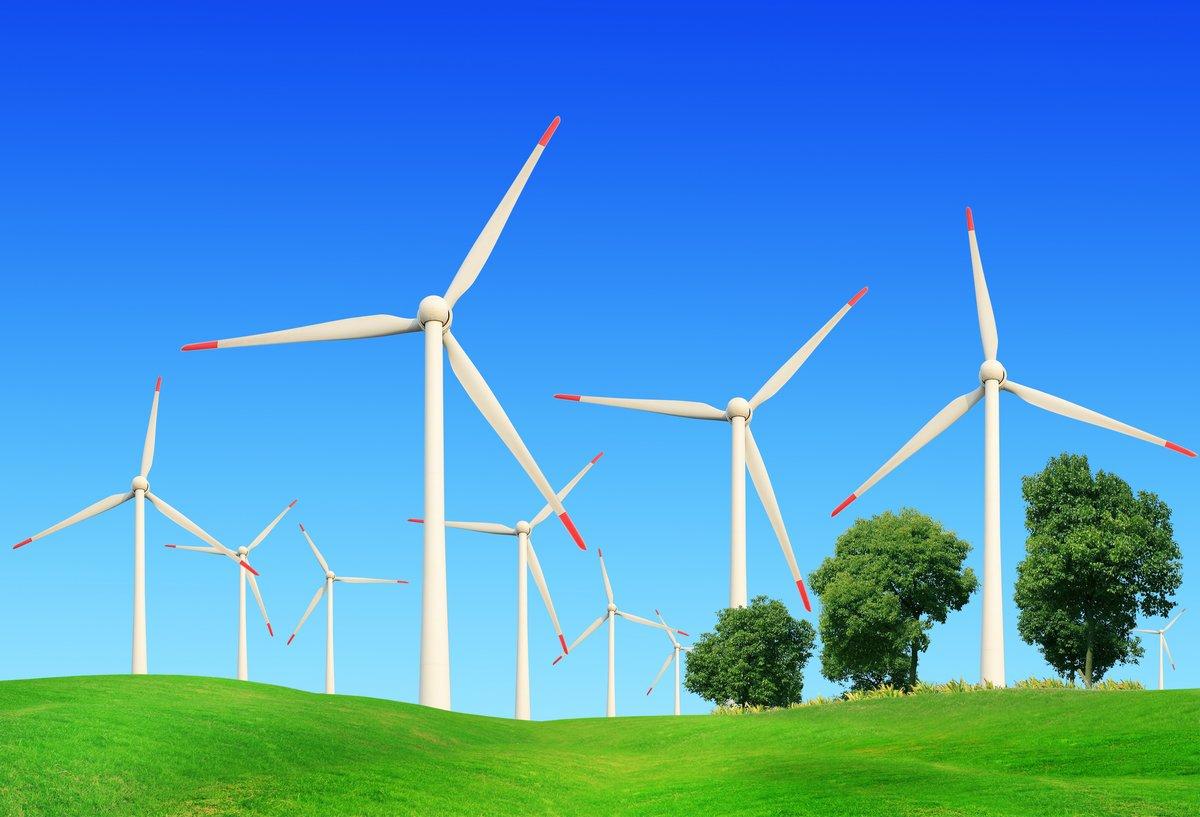 Ветровые турбины в летний пейзаж, 29x20 см, на бумагеМельницы<br>Постер на холсте или бумаге. Любого нужного вам размера. В раме или без. Подвес в комплекте. Трехслойная надежная упаковка. Доставим в любую точку России. Вам осталось только повесить картину на стену!<br>