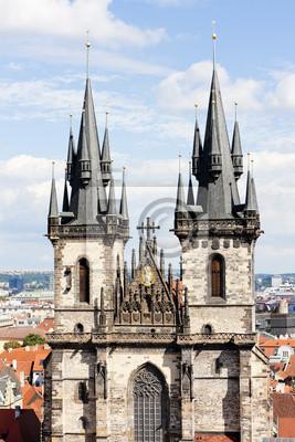 Постер Чехия Tynsky церкви в Old Town Square, Прага, Чешская РеспубликаЧехия<br>Постер на холсте или бумаге. Любого нужного вам размера. В раме или без. Подвес в комплекте. Трехслойная надежная упаковка. Доставим в любую точку России. Вам осталось только повесить картину на стену!<br>