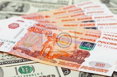 Постер Деньги и финансы Российских рублей) векселя лежала на фоне долларовДеньги и финансы<br>Постер на холсте или бумаге. Любого нужного вам размера. В раме или без. Подвес в комплекте. Трехслойная надежная упаковка. Доставим в любую точку России. Вам осталось только повесить картину на стену!<br>