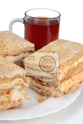 Сладкое печенье и стакан чая без сахара, 20x30 см, на бумагеЧай<br>Постер на холсте или бумаге. Любого нужного вам размера. В раме или без. Подвес в комплекте. Трехслойная надежная упаковка. Доставим в любую точку России. Вам осталось только повесить картину на стену!<br>