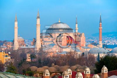 Постер Турция Собор Святой Софии мечеть, Стамбул, Турция.Турция<br>Постер на холсте или бумаге. Любого нужного вам размера. В раме или без. Подвес в комплекте. Трехслойная надежная упаковка. Доставим в любую точку России. Вам осталось только повесить картину на стену!<br>