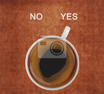 Постер Еда и напитки Чашку кофе, показывающие да, 22x20 см, на бумагеКофе<br>Постер на холсте или бумаге. Любого нужного вам размера. В раме или без. Подвес в комплекте. Трехслойная надежная упаковка. Доставим в любую точку России. Вам осталось только повесить картину на стену!<br>