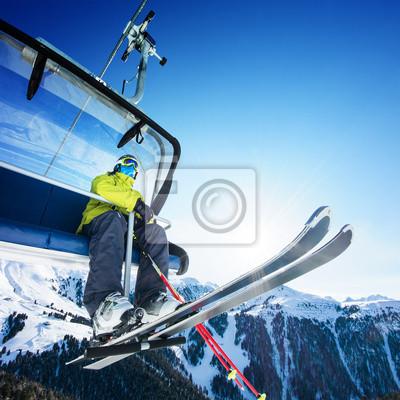 Лыжник размещения на ски-Лифт - подъемник на Солнечный день, и горы, 20x20 см, на бумагеГорные лыжи<br>Постер на холсте или бумаге. Любого нужного вам размера. В раме или без. Подвес в комплекте. Трехслойная надежная упаковка. Доставим в любую точку России. Вам осталось только повесить картину на стену!<br>