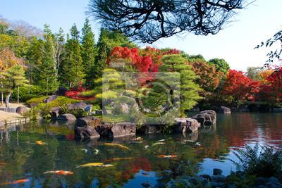 Постер Япония В Солнечный день, осенью на Коко-ru открытый парком Осака, ЯпонияЯпония<br>Постер на холсте или бумаге. Любого нужного вам размера. В раме или без. Подвес в комплекте. Трехслойная надежная упаковка. Доставим в любую точку России. Вам осталось только повесить картину на стену!<br>