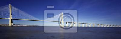 """Постер Португалия """"Панорамный вид на знаменитый мост Васко да Гама"""""""