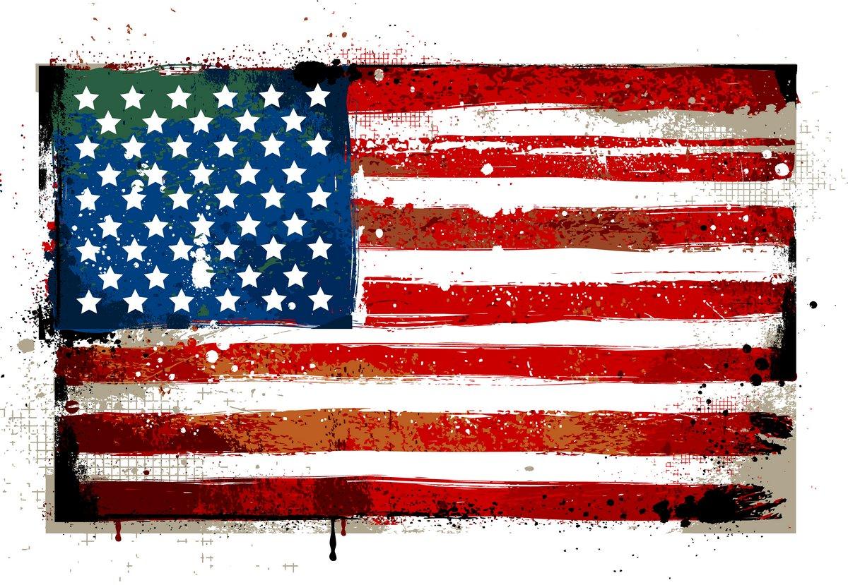 Постер Шероховатый флаг СШАФлаг США<br>Постер на холсте или бумаге. Любого нужного вам размера. В раме или без. Подвес в комплекте. Трехслойная надежная упаковка. Доставим в любую точку России. Вам осталось только повесить картину на стену!<br>