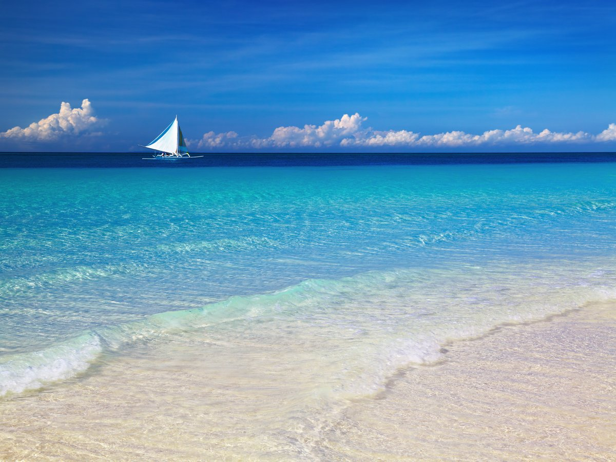 Постер Пейзаж морской Тропический пляж, остров Боракай, ФилиппиныПейзаж морской<br>Постер на холсте или бумаге. Любого нужного вам размера. В раме или без. Подвес в комплекте. Трехслойная надежная упаковка. Доставим в любую точку России. Вам осталось только повесить картину на стену!<br>