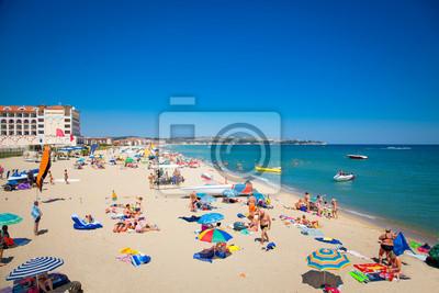 Постер Болгария Бяла прекрасный песчаный пляж на Черном Море в Болгарии.Болгария<br>Постер на холсте или бумаге. Любого нужного вам размера. В раме или без. Подвес в комплекте. Трехслойная надежная упаковка. Доставим в любую точку России. Вам осталось только повесить картину на стену!<br>