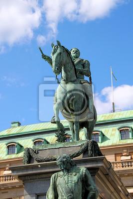 Постер Швеция Denkmal Густава II Адольфа в СтокгольмеШвеция<br>Постер на холсте или бумаге. Любого нужного вам размера. В раме или без. Подвес в комплекте. Трехслойная надежная упаковка. Доставим в любую точку России. Вам осталось только повесить картину на стену!<br>