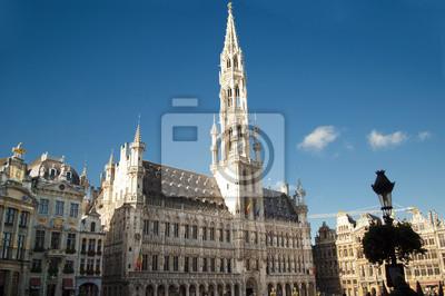 Постер Бельгия Grand Place BrusselsБельгия<br>Постер на холсте или бумаге. Любого нужного вам размера. В раме или без. Подвес в комплекте. Трехслойная надежная упаковка. Доставим в любую точку России. Вам осталось только повесить картину на стену!<br>