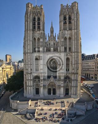 Постер Бельгия Санкт-Михайловского собора в БрюсселеБельгия<br>Постер на холсте или бумаге. Любого нужного вам размера. В раме или без. Подвес в комплекте. Трехслойная надежная упаковка. Доставим в любую точку России. Вам осталось только повесить картину на стену!<br>