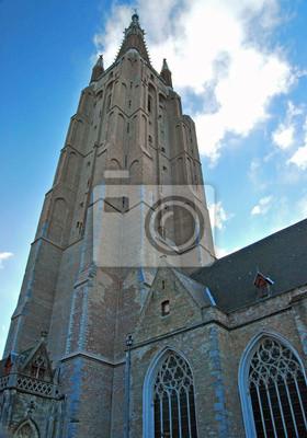 Постер Бельгия Eglise Notre-Dame de BrugesБельгия<br>Постер на холсте или бумаге. Любого нужного вам размера. В раме или без. Подвес в комплекте. Трехслойная надежная упаковка. Доставим в любую точку России. Вам осталось только повесить картину на стену!<br>