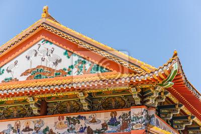 Постер Малайзия Буддийский храм на крышеМалайзия<br>Постер на холсте или бумаге. Любого нужного вам размера. В раме или без. Подвес в комплекте. Трехслойная надежная упаковка. Доставим в любую точку России. Вам осталось только повесить картину на стену!<br>