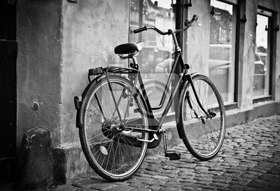 Классический винтаж ретро город велосипед в Copenhagen, Дания, 29x20 см, на бумагеДания<br>Постер на холсте или бумаге. Любого нужного вам размера. В раме или без. Подвес в комплекте. Трехслойная надежная упаковка. Доставим в любую точку России. Вам осталось только повесить картину на стену!<br>
