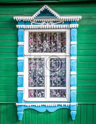 Окно старого традиционного русского деревянного дома., 20x26 см, на бумагеРоссия<br>Постер на холсте или бумаге. Любого нужного вам размера. В раме или без. Подвес в комплекте. Трехслойная надежная упаковка. Доставим в любую точку России. Вам осталось только повесить картину на стену!<br>