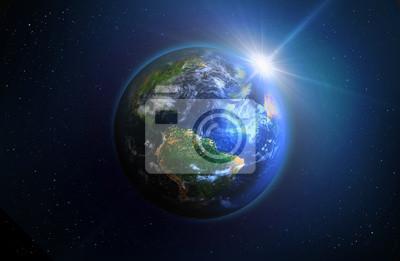 Постер Космос - разные постеры Глобус - ВосходКосмос - разные постеры<br>Постер на холсте или бумаге. Любого нужного вам размера. В раме или без. Подвес в комплекте. Трехслойная надежная упаковка. Доставим в любую точку России. Вам осталось только повесить картину на стену!<br>