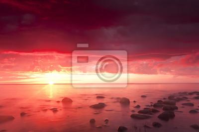 Красивый океан восхода солнца, широкий угол фото, 30x20 см, на бумагеШвеция<br>Постер на холсте или бумаге. Любого нужного вам размера. В раме или без. Подвес в комплекте. Трехслойная надежная упаковка. Доставим в любую точку России. Вам осталось только повесить картину на стену!<br>