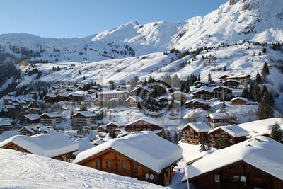 "Постер Альпийский пейзаж ""Grand Bornand"" от Artwall"