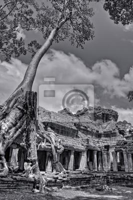 Постер Камбоджа Черный и Белый Ангкор-ВАТ ФотоКамбоджа<br>Постер на холсте или бумаге. Любого нужного вам размера. В раме или без. Подвес в комплекте. Трехслойная надежная упаковка. Доставим в любую точку России. Вам осталось только повесить картину на стену!<br>
