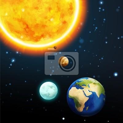 Постер Космос детям Солнечная система - Млечный путь - астрономия для малышейКосмос детям<br>Постер на холсте или бумаге. Любого нужного вам размера. В раме или без. Подвес в комплекте. Трехслойная надежная упаковка. Доставим в любую точку России. Вам осталось только повесить картину на стену!<br>