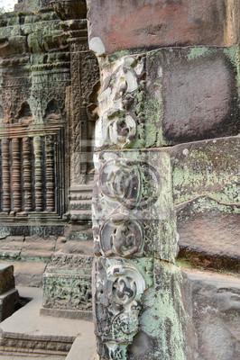 Постер Камбоджа Классической кхмерской строительства на Prasat Та промКамбоджа<br>Постер на холсте или бумаге. Любого нужного вам размера. В раме или без. Подвес в комплекте. Трехслойная надежная упаковка. Доставим в любую точку России. Вам осталось только повесить картину на стену!<br>