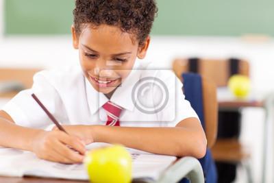 Ученику начальной школы, писать работы в классе, 30x20 см, на бумагеОбразование<br>Постер на холсте или бумаге. Любого нужного вам размера. В раме или без. Подвес в комплекте. Трехслойная надежная упаковка. Доставим в любую точку России. Вам осталось только повесить картину на стену!<br>