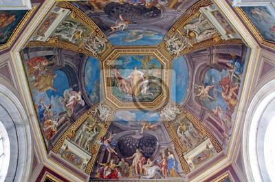 Потолок в музей Ватикана, 30x20 см, на бумагеРелигия<br>Постер на холсте или бумаге. Любого нужного вам размера. В раме или без. Подвес в комплекте. Трехслойная надежная упаковка. Доставим в любую точку России. Вам осталось только повесить картину на стену!<br>