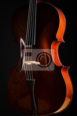 Постер Музыка Скрипка в темной комнате - музыкальный концептМузыка<br>Постер на холсте или бумаге. Любого нужного вам размера. В раме или без. Подвес в комплекте. Трехслойная надежная упаковка. Доставим в любую точку России. Вам осталось только повесить картину на стену!<br>
