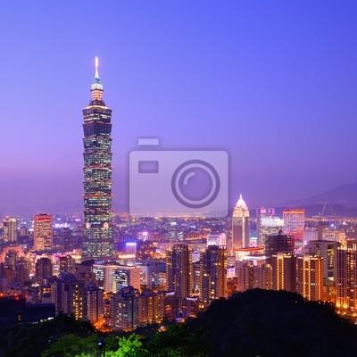 Постер Тайвань Тайбэй, Тайвань SkylineТайвань<br>Постер на холсте или бумаге. Любого нужного вам размера. В раме или без. Подвес в комплекте. Трехслойная надежная упаковка. Доставим в любую точку России. Вам осталось только повесить картину на стену!<br>