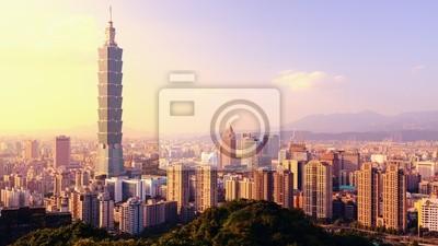Постер Тайвань Тайбэй, Тайвань Skyline ПанорамаТайвань<br>Постер на холсте или бумаге. Любого нужного вам размера. В раме или без. Подвес в комплекте. Трехслойная надежная упаковка. Доставим в любую точку России. Вам осталось только повесить картину на стену!<br>