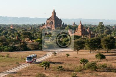 Постер Мьянма (Бирма) Sulamani Храм в Баган, МьянмаМьянма (Бирма)<br>Постер на холсте или бумаге. Любого нужного вам размера. В раме или без. Подвес в комплекте. Трехслойная надежная упаковка. Доставим в любую точку России. Вам осталось только повесить картину на стену!<br>