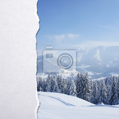Постер Альпийский пейзаж Обрывки бумагиАльпийский пейзаж<br>Постер на холсте или бумаге. Любого нужного вам размера. В раме или без. Подвес в комплекте. Трехслойная надежная упаковка. Доставим в любую точку России. Вам осталось только повесить картину на стену!<br>