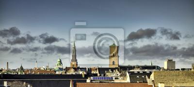 Постер Дания Копенгаген крыши, ДанияДания<br>Постер на холсте или бумаге. Любого нужного вам размера. В раме или без. Подвес в комплекте. Трехслойная надежная упаковка. Доставим в любую точку России. Вам осталось только повесить картину на стену!<br>