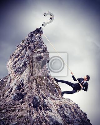 Постер Деятельность Бизнесмен альпинизм горы, 20x25 см, на бумагеДеньги и финансы<br>Постер на холсте или бумаге. Любого нужного вам размера. В раме или без. Подвес в комплекте. Трехслойная надежная упаковка. Доставим в любую точку России. Вам осталось только повесить картину на стену!<br>