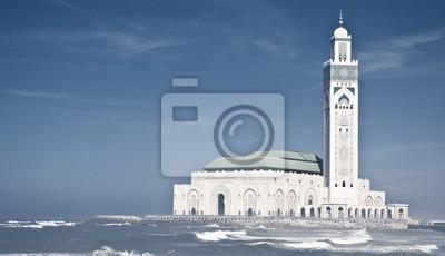 Постер Марокко Мечеть Хасана IIМарокко<br>Постер на холсте или бумаге. Любого нужного вам размера. В раме или без. Подвес в комплекте. Трехслойная надежная упаковка. Доставим в любую точку России. Вам осталось только повесить картину на стену!<br>