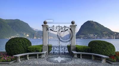 Постер Швейцария Parco Civico, ЛуганоШвейцария<br>Постер на холсте или бумаге. Любого нужного вам размера. В раме или без. Подвес в комплекте. Трехслойная надежная упаковка. Доставим в любую точку России. Вам осталось только повесить картину на стену!<br>