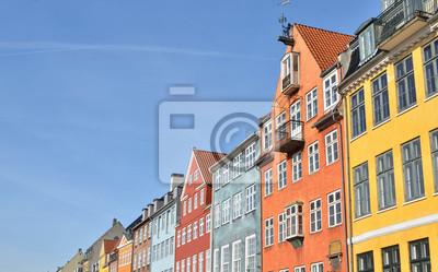 Nyhavn) в Копенгагене, Дания - Известный туристический объект, 32x20 см, на бумагеДания<br>Постер на холсте или бумаге. Любого нужного вам размера. В раме или без. Подвес в комплекте. Трехслойная надежная упаковка. Доставим в любую точку России. Вам осталось только повесить картину на стену!<br>