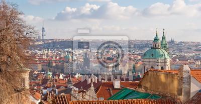 Прага, Чешская Республика, панорамный вид, 39x20 см, на бумагеЧехия<br>Постер на холсте или бумаге. Любого нужного вам размера. В раме или без. Подвес в комплекте. Трехслойная надежная упаковка. Доставим в любую точку России. Вам осталось только повесить картину на стену!<br>