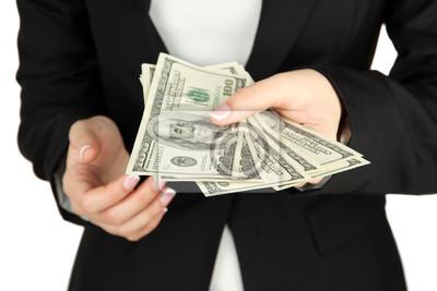Женщина рассказывает долларов, макро, 30x20 см, на бумагеДеньги и финансы<br>Постер на холсте или бумаге. Любого нужного вам размера. В раме или без. Подвес в комплекте. Трехслойная надежная упаковка. Доставим в любую точку России. Вам осталось только повесить картину на стену!<br>