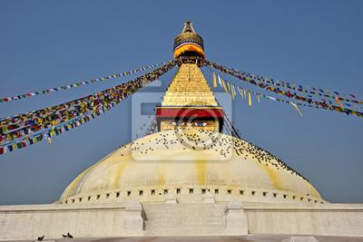 Постер Непал Boudhanath буддийская ступа в Катманду-столице Непала,Непал<br>Постер на холсте или бумаге. Любого нужного вам размера. В раме или без. Подвес в комплекте. Трехслойная надежная упаковка. Доставим в любую точку России. Вам осталось только повесить картину на стену!<br>