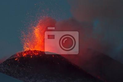 Постер Италия, вулкан Этна