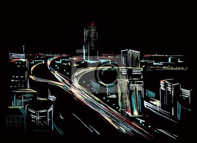 Пейзаж современный городской ГородПейзаж современный городской<br>Репродукция на холсте или бумаге. Любого нужного вам размера. В раме или без. Подвес в комплекте. Трехслойная надежная упаковка. Доставим в любую точку России. Вам осталось только повесить картину на стену!<br>