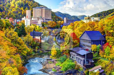 Постер Япония Hot Springs Resort Город в Jozankei, Хоккайдо, ЯпонияЯпония<br>Постер на холсте или бумаге. Любого нужного вам размера. В раме или без. Подвес в комплекте. Трехслойная надежная упаковка. Доставим в любую точку России. Вам осталось только повесить картину на стену!<br>