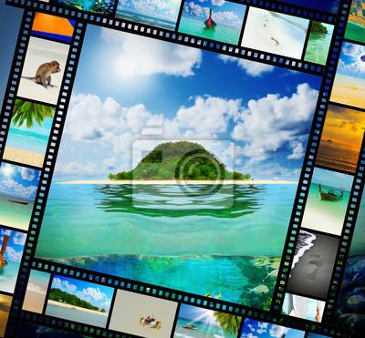 Постер Пейзаж морской Пленка с прекрасным праздником фотографииПейзаж морской<br>Постер на холсте или бумаге. Любого нужного вам размера. В раме или без. Подвес в комплекте. Трехслойная надежная упаковка. Доставим в любую точку России. Вам осталось только повесить картину на стену!<br>