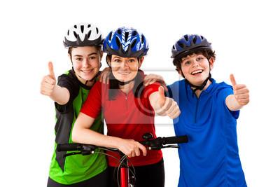 Постер Спорт Велосипедисты, изолированных на белом фоне, 30x20 см, на бумагеВелосипедисты<br>Постер на холсте или бумаге. Любого нужного вам размера. В раме или без. Подвес в комплекте. Трехслойная надежная упаковка. Доставим в любую точку России. Вам осталось только повесить картину на стену!<br>