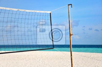 Постер Волейбол Волейбольная сетка на пляжеВолейбол<br>Постер на холсте или бумаге. Любого нужного вам размера. В раме или без. Подвес в комплекте. Трехслойная надежная упаковка. Доставим в любую точку России. Вам осталось только повесить картину на стену!<br>